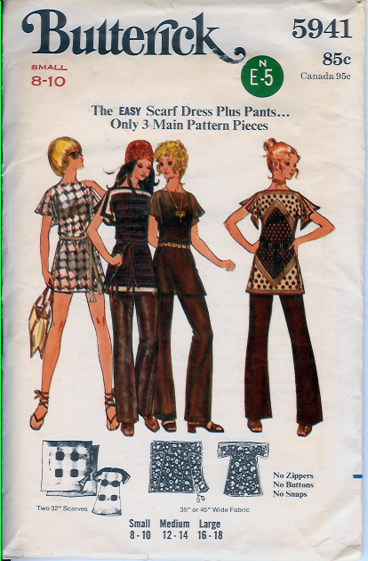 5941B 70s Scarf Dress