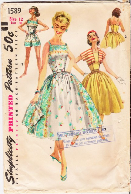 1950's Simplicity 1589 front