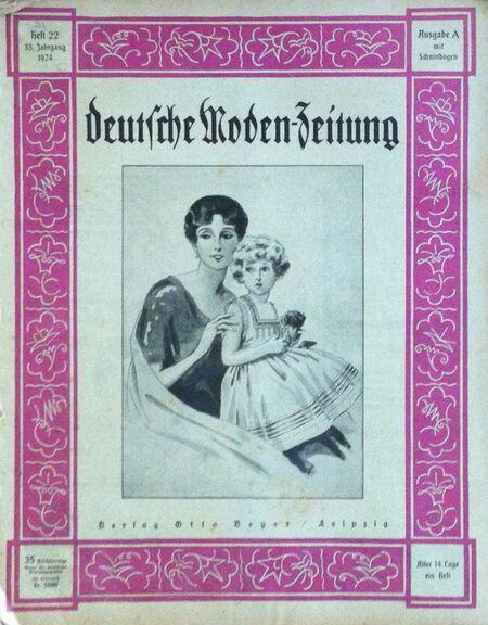 Deutsche Moden-Zeitung No. 22 Vol. 33 1924 1