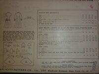 Simplicity 2141 A; 1947; Back