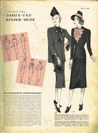 Praktische Damen und Kinder Mode 1938 0003