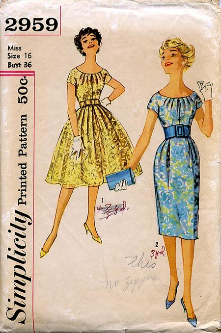 Simplicity 2959 1950s front