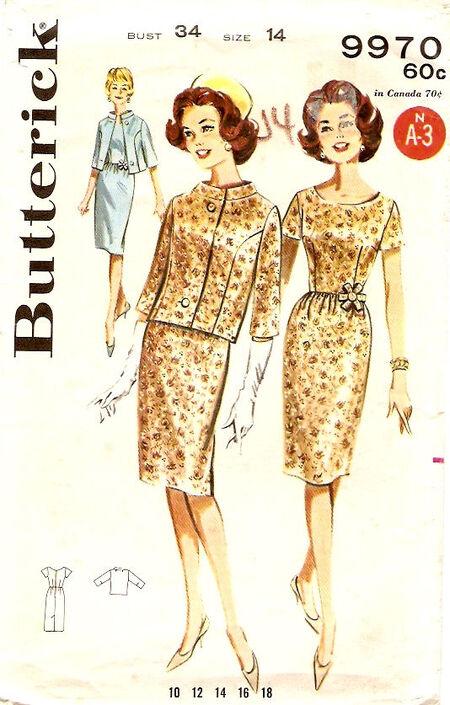 Butterick 9970 c1960 a