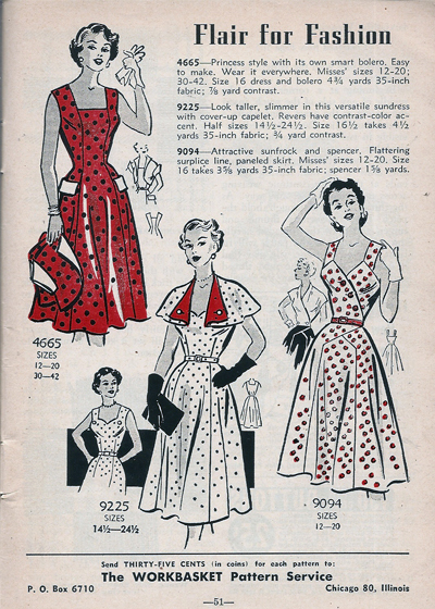 Mail Order 4665 9225 9094 Sewing Pattern