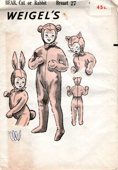 Weigels children BEAR, Cat or Rabbit