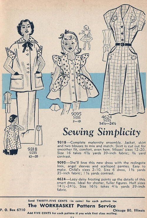 Mail Order 9318 9095 4624 Sewing Patterns
