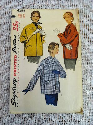 7-89 Simplicity sewing pattern 4565