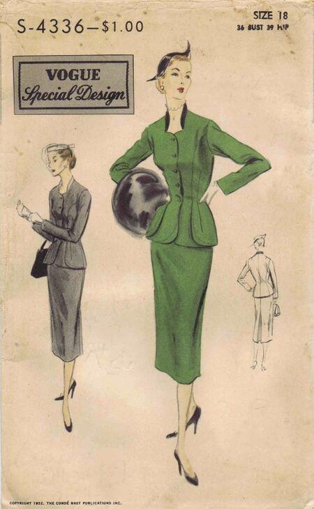 Vogue 1952 S-4336