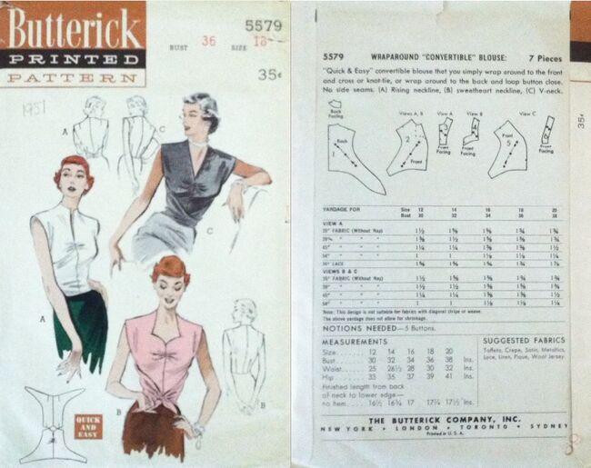 Butterick 5579 A