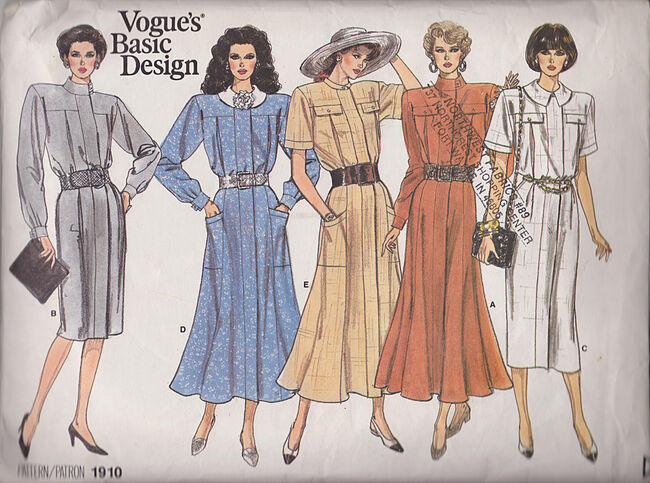 Vogue 1910 basic designs dress