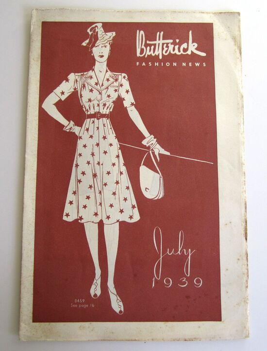 Butterick Fashion News July 1939