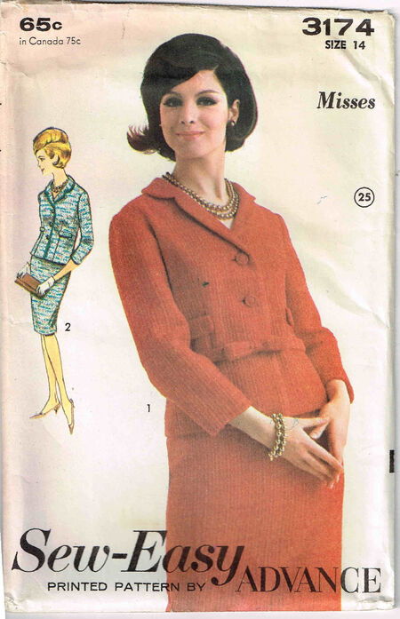 C1960s 3174 Advance Suit Size 14