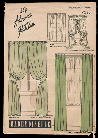 Advance 7528 vintage sewing patterns fandom powered by for 1940s window treatments
