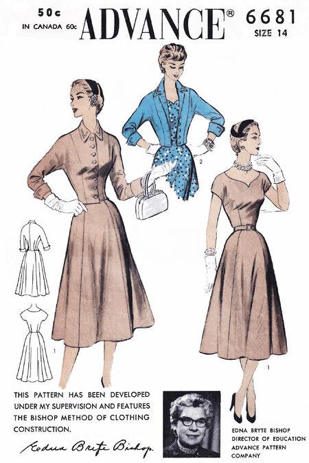 1954 Advance Dress Jacket white crop