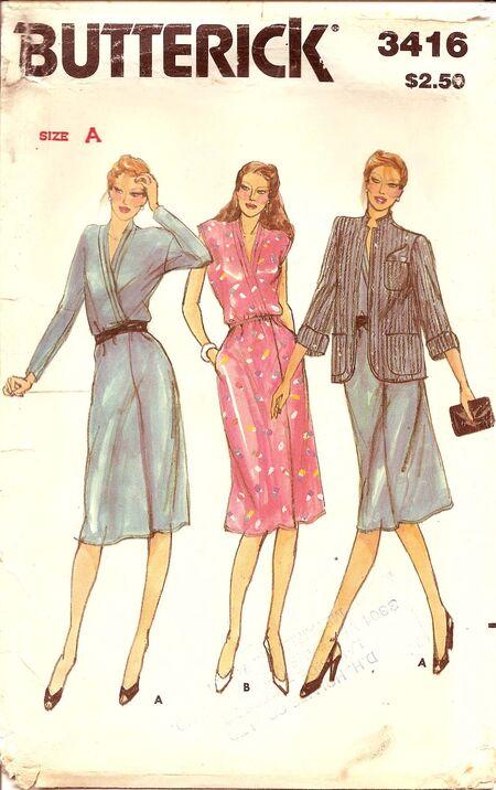 Faux wrap dress pattern