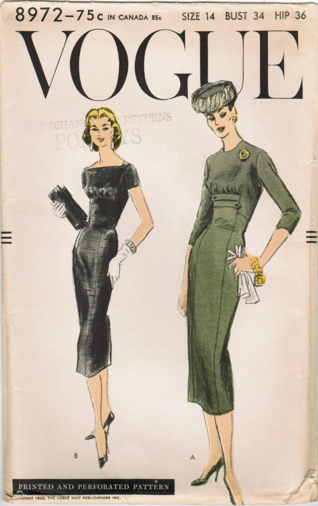 Vogue 8972 A | Vintage Sewing Patterns | FANDOM powered by ...