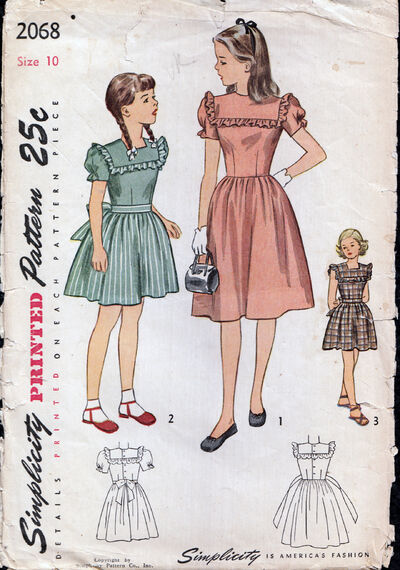Vintage 1950s girls Dress Pattern from Penelope Rose at Artfire