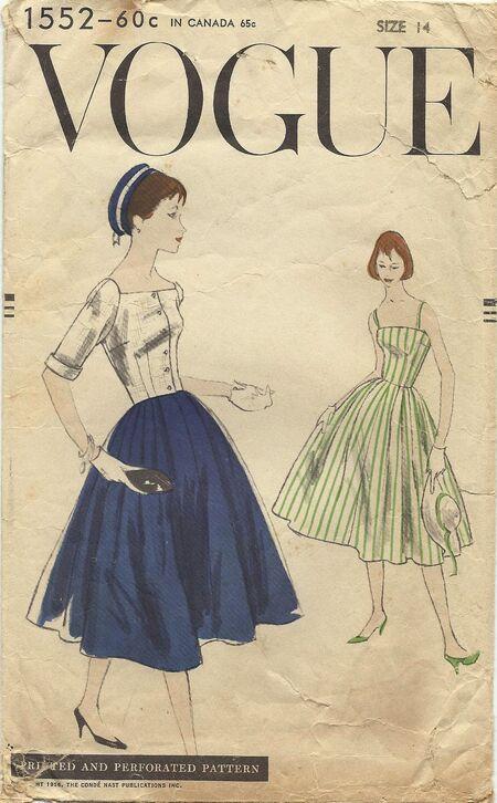 Vogue pattern 1552