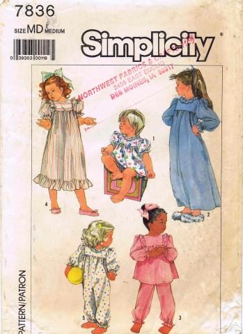 Simplicity 1986 7836