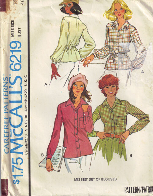 C1978 6219 McCalls blouse 18