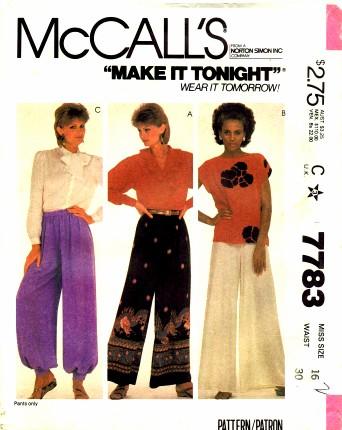 McCalls 1981 7783
