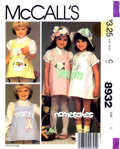 McCalls 1984 8932