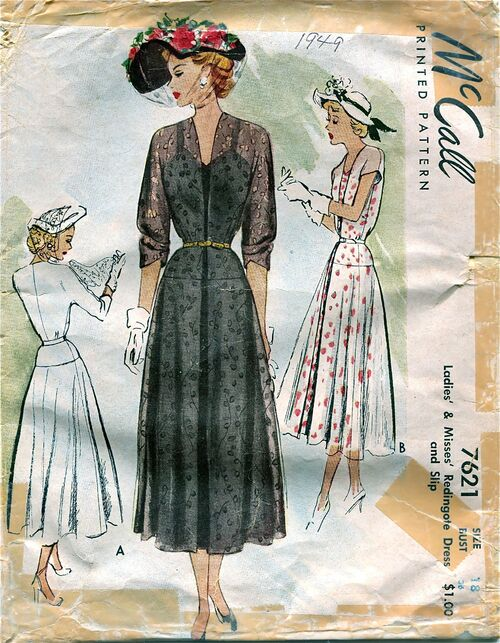 McCall McCalls 7621 Vintage Sewing Pattern at Design Rewind Fashions on Etsy a
