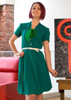 40's-shirtdress-green 0053 web