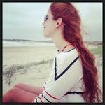 Cande on the beach