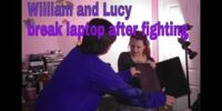 William and Lucy break laptop after fighting