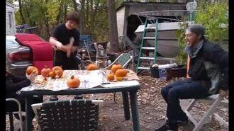 William Destroys Pumpkin With An Ax