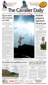 The Cavalier Daily front page, 7 October 2005