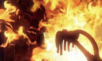 Blood inside of the Incinerator