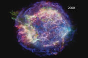 Supernova remnant expands as we watch!.
