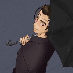 Big al under my umbrella ah by kaotikachan-d3jvyl9