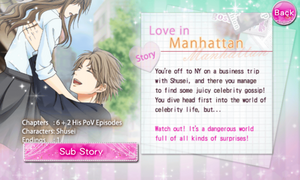 Love in Manhattan - Shusei Hayakawa - Profile