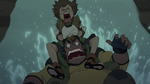60. Pidge clings to Hunk down slide