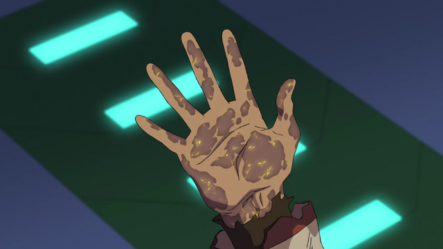 File:260. Yellow Quintessence working on Keith's hand.png