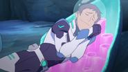 Lance sleeps like a log