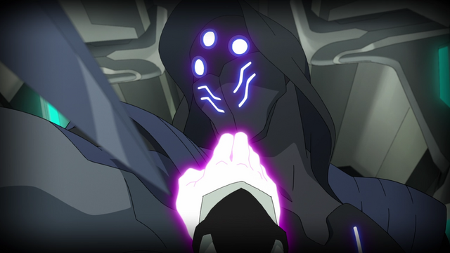 File:S2E03.143. Intruder pauses with Shiro's hand at his throat.png