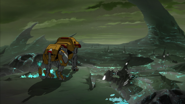 File:146. Yellow Lion overlooking Balmera nightscape.png