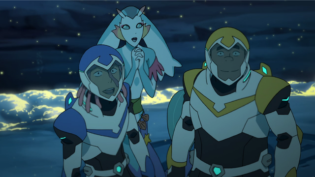 File:S2E02.383. Lance and Hunk overjoyed to see Green coming.png