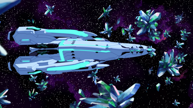 File:S2E03.76. Castleship flies thru crystals in the Thaldycon system.png