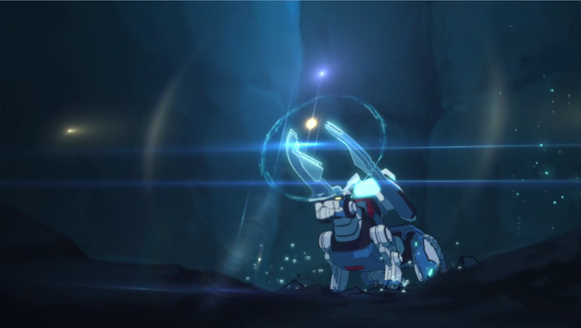 File:S2E02.360. Blue Lion preparing to fire sonic weapon.png