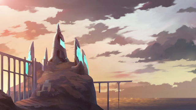 File:221. Castle of the Lions at sunset.png