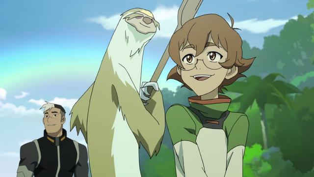 File:Pidge, Shiro and Sloth-Like Creature.png