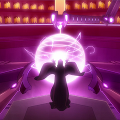Galra Druid using their magic lightning in the refining process.