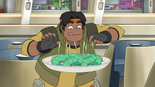 S2E07.88. Hunk will eat anything won't he