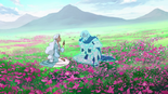 185. Allura and Alfor AI in flower field