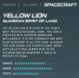 Official Stats - Yellow Lion